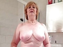Sexy and busty granny
