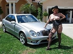 Christina a granny mistress has awesome stockings