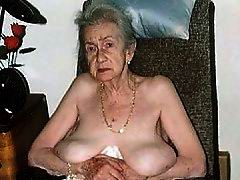 Gray Old Granny Stripping On Photo