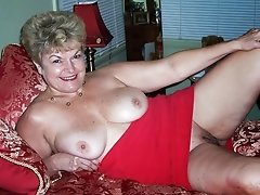 Granny Showing Her Old Pussy In Bed