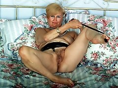 Luscious grannies with legs spread wide