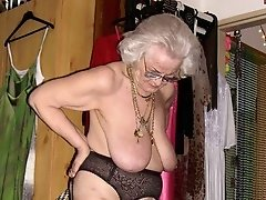 Grannys in nylons and undies