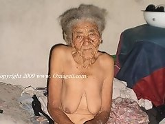 South American very old prostitute is waiting for a new client