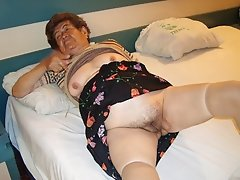 Old hairy pussy from old granny